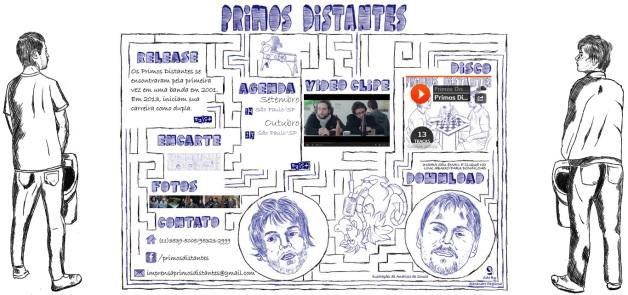 Imagem da Home do site da banda