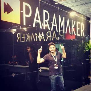 Felipe Neto no stand da ParaMaker.  Foto: Página de Felipe no Facebook